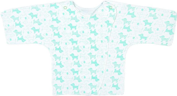 Распашонка для девочки Чудесные одежки, цвет: белый, салатовый. 5082. Размер 685082