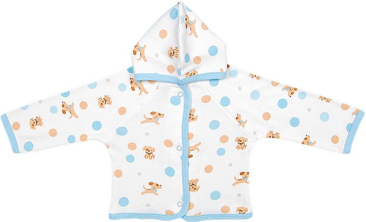 Распашонка для мальчика Чудесные одежки, цвет: белый, бежевый, голубой. 5182. Размер 805182Удобная распашонка Чудесные одежки послужит идеальным дополнением к гардеробу вашего малыша, обеспечивая ему наибольший комфорт. Изготовленная из интерлока - натурального хлопка, она необычайно мягкая и легкая, не раздражает нежную кожу ребенка и хорошо вентилируется, а эластичные швы приятны телу ребенка и не препятствуют его движениям. Модель с капюшоном и длинными рукавами-реглан застегивается спереди на удобные застежки-кнопки, что помогает с легкостью переодеть ребенка. Распашонка полностью соответствует особенностям жизни ребенка в ранний период, не стесняя и не ограничивая его в движениях.