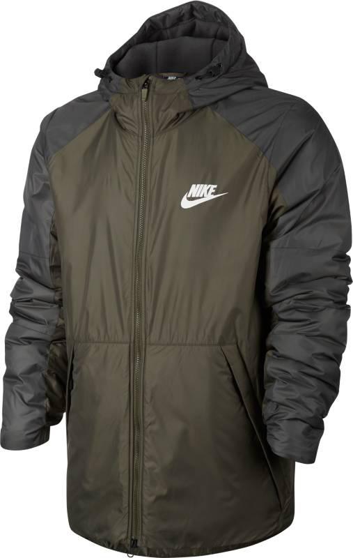 Куртка мужская Nike M Nsw Syn Fill Jkt Hd Flc Ln, цвет: коричневый. 861788-222. Размер L (50/52)861788-222Mens Nike Sportswear Jacket ЗАЩИТА ОТ ДОЖДЯ. ЗАЩИТА ОТ ХОЛОДА. Мужская куртка Nike Sportswear обеспечивает комфорт в переменчивую погоду. Влагонепроницаемая ткань, отсеки с утеплителем, регулируемый капюшон и мягкая флисовая подкладка обеспечивают защиту от холода. Ткань рипстоп защищает от влаги.