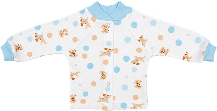 Распашонка для мальчика Чудесные одежки, цвет: белый, бежевый, голубой. 5184. Размер 745184