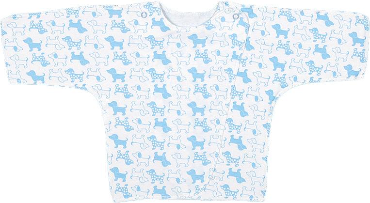 Распашонка для мальчика Чудесные одежки, цвет: белый, голубой. 5082. Размер 505082Распашонка для мальчика Чудесные одежки послужит идеальным дополнением к гардеробу вашего малыша. Распашонка изготовлена из натурального хлопка, благодаря чему она необычайно мягкая и легкая, не раздражает нежную кожу ребенка и хорошо вентилируется, а эластичные швы приятны телу малыша и не препятствуют его движениям. Распашонка с запахом, застегивается при помощи двух кнопок на плечах, которые позволяют без труда переодеть ребенка.