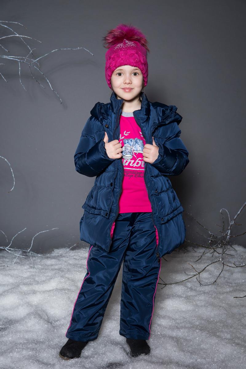Брюки утепленные для девочки Sweet Berry, цвет: темно-синий. 734061. Размер 116734061Утепленные текстильные брюки для девочки на меховой подкладке, декорированные контрастной отделкой. Мягкий, эластичный пояс со шнуром для регулирования объема по талии. Низ брючин регулируется эластичными утяжками.