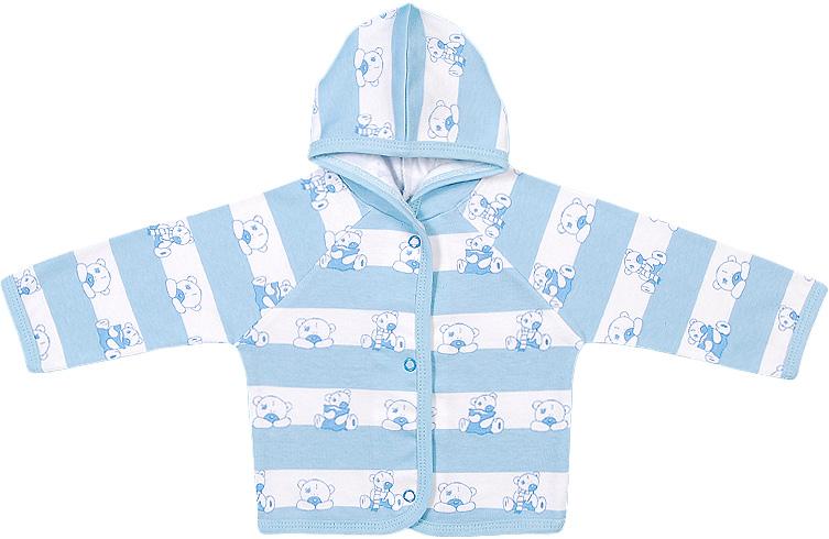 Распашонка для мальчика Чудесные одежки, цвет: белый, голубой. 5182. Размер 865182