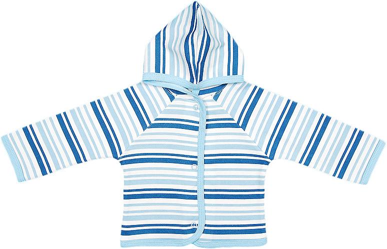 Распашонка для мальчика Чудесные одежки, цвет: белый, синий. 5182. Размер 865182Удобная распашонка Чудесные одежки послужит идеальным дополнением к гардеробу вашего малыша, обеспечивая ему наибольший комфорт. Изготовленная из интерлока - натурального хлопка, она необычайно мягкая и легкая, не раздражает нежную кожу ребенка и хорошо вентилируется, а эластичные швы приятны телу ребенка и не препятствуют его движениям. Модель с капюшоном и длинными рукавами-реглан застегивается спереди на удобные застежки-кнопки, что помогает с легкостью переодеть ребенка. Распашонка полностью соответствует особенностям жизни ребенка в ранний период, не стесняя и не ограничивая его в движениях.