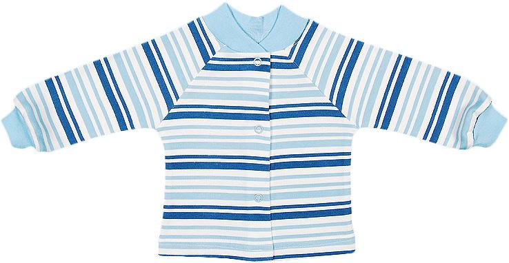 Распашонка для мальчика Чудесные одежки, цвет: белый, синий. 5184. Размер 745184Распашонка Чудесные одежки послужит идеальным дополнением к гардеробу вашего ребенка, обеспечивая ему наибольший комфорт. Изготовленная из натурального хлопка, она необычайно мягкая и легкая, не раздражает нежную кожу ребенка и хорошо вентилируется, а эластичные швы приятны телу младенца и не препятствуют его движениям. Модель с длинными рукавами имеет круглый вырез горловины, дополненный мягкой трикотажной резинкой. Удобные застежки-кнопки по всей длине помогают легко переодеть ребенка. На рукавах предусмотрены трикотажные манжеты, не пережимающие ручки. В ней ваш ребенок всегда будет в центре внимания.