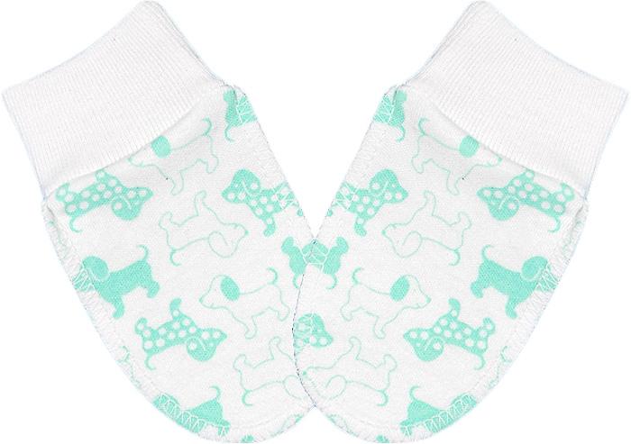 Рукавички для девочки Чудесные одежки, цвет: белый, салатовый. 5918. Размер 625918