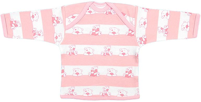Футболка для девочки Чудесные одежки, цвет: белый, розовый. 5681. Размер 805681Удобная детская футболка Чудесные одежки с длинными рукавами послужит идеальным дополнением к гардеробу вашего ребенка, обеспечивая ему наибольший комфорт. Изготовленная из интерлока - натурального хлопка, она необычайно мягкая и легкая, не раздражает нежную кожу ребенка и хорошо вентилируется, а эластичные швы приятны телу ребенка и не препятствуют его движениям. Удобные запахи на плечах помогают легко переодеть младенца. Горловина, низ модели и низ рукавов дополнены трикотажной бейкой. Футболка полностью соответствует особенностям жизни ребенка в ранний период, не стесняя и не ограничивая его в движениях.