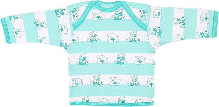 Футболка для девочки Чудесные одежки, цвет: белый, салатовый. 5681. Размер 865681