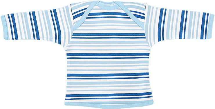Футболка для мальчика Чудесные одежки, цвет: белый, синий. 5681. Размер 685681Удобная детская футболка Чудесные одежки с длинными рукавами послужит идеальным дополнением к гардеробу вашего ребенка, обеспечивая ему наибольший комфорт. Изготовленная из интерлока - натурального хлопка, она необычайно мягкая и легкая, не раздражает нежную кожу ребенка и хорошо вентилируется, а эластичные швы приятны телу ребенка и не препятствуют его движениям. Удобные запахи на плечах помогают легко переодеть младенца. Горловина, низ модели и низ рукавов дополнены трикотажной бейкой. Футболка полностью соответствует особенностям жизни ребенка в ранний период, не стесняя и не ограничивая его в движениях.