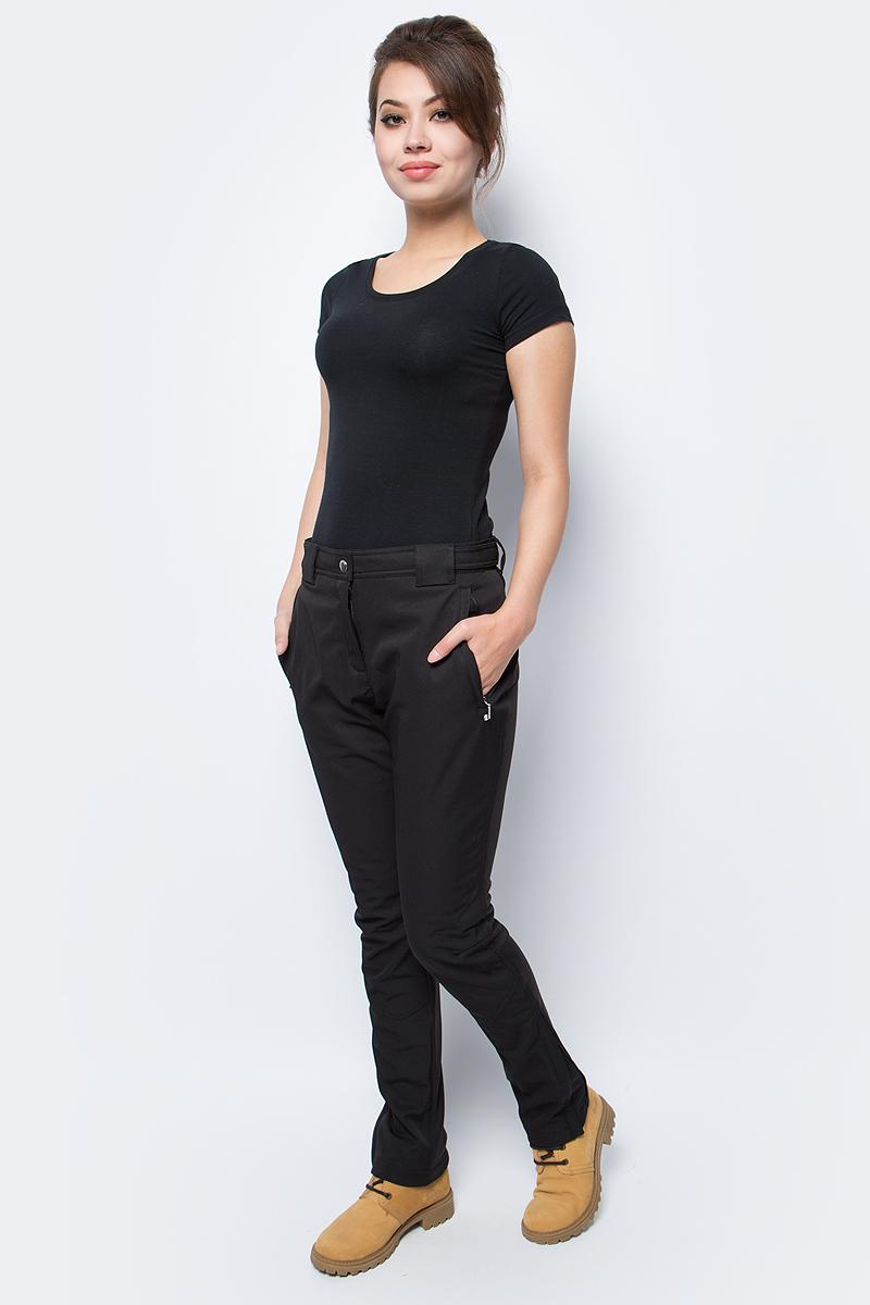 Брюки женские Luhta, цвет: черный. 838744343LV_990. Размер 44 (52)838744343LV_990Стильные женские брюки Luhta выполнены из полиэстера с добавлением эластана. Низ брючин дополнен небольшими разрезами с застежкой - молнией. Модель спереди оформлена двумя втачными карманами на застежках - молниях. Спереди брюки застегиваются при помощи застежки- молнии и пуговицы. Также модель оснащена шлевками для ремня.
