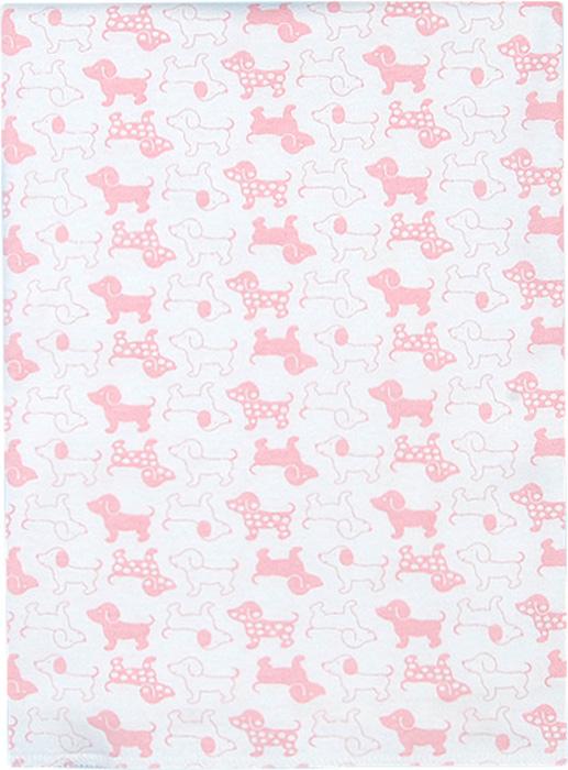 Чудесные одежки Пеленка текстильная Собачка цвет белый розовый 120 х 90 см чудесные одежки пеленка текстильная собачка цвет белый бежевый голубой 120 х 90 см
