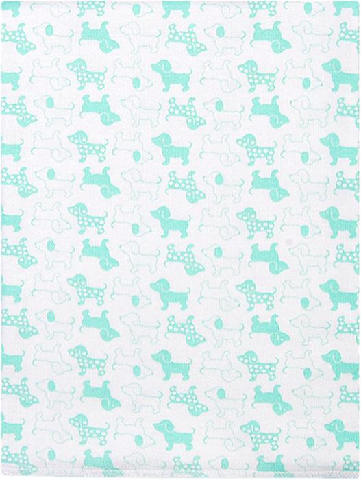 Чудесные одежки Пеленка текстильная Собачка цвет белый салатовый 120 х 90 см чудесные одежки пеленка текстильная собачка цвет белый бежевый голубой 120 х 90 см