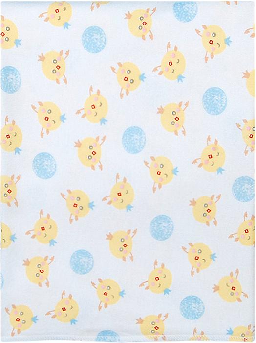 Чудесные одежки Пеленка текстильная Цыпленок цвет белый желтый голубой 120 х 90 см чудесные одежки пеленка текстильная собачка цвет белый бежевый голубой 120 х 90 см