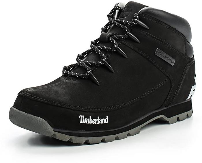 Ботинки мужские Timberland Euro Sprint Hiker (1 Of 2), цвет: черный. TBLA18DMM. Размер 8,5 (41)TBLA18DMMСтильные мужские ботинки Euro Sprint Hiker (1 Of 2) от Timberland заинтересуют вас своим дизайном с первого взгляда. Классическая шнуровка прочно зафиксирует обувь на вашей ноге. Подкладка из текстиля не натирает. Стелька Anti-Fatigue из материала ЭВА с текстильной поверхностью обеспечивает поддержку и отличную амортизацию, значительно снижается нагрузка на пятку и позвоночник. Подошва с рельефным протектором гарантирует отличное сцепление на любых поверхностях. Модные ботинки займут достойное место среди вашей коллекции обуви.