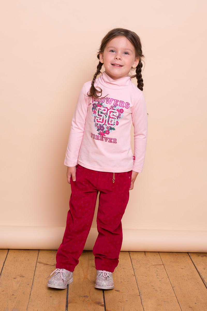 Водолазка для девочки Sweet Berry Baby, цвет: розовый. 732024. Размер 92732024Хлопковая водолазка Sweet Berry Baby для девочки выполнена из трикотажной ткани с ярким цветочным принтом. Воротник-стойка застегивается на кнопочки.