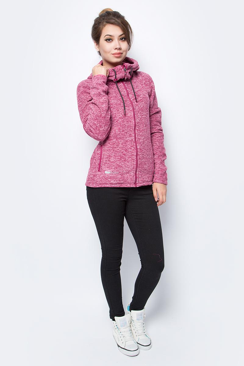 Толстовка женская Roxy, цвет: малиновый. ERJFT03585-MQG0. Размер XL (48)ERJFT03585-MQG0Толстовка женская Roxy выполнена из полиэстера. Модель с длинными рукавами и капюшоном застегивается на молнию.