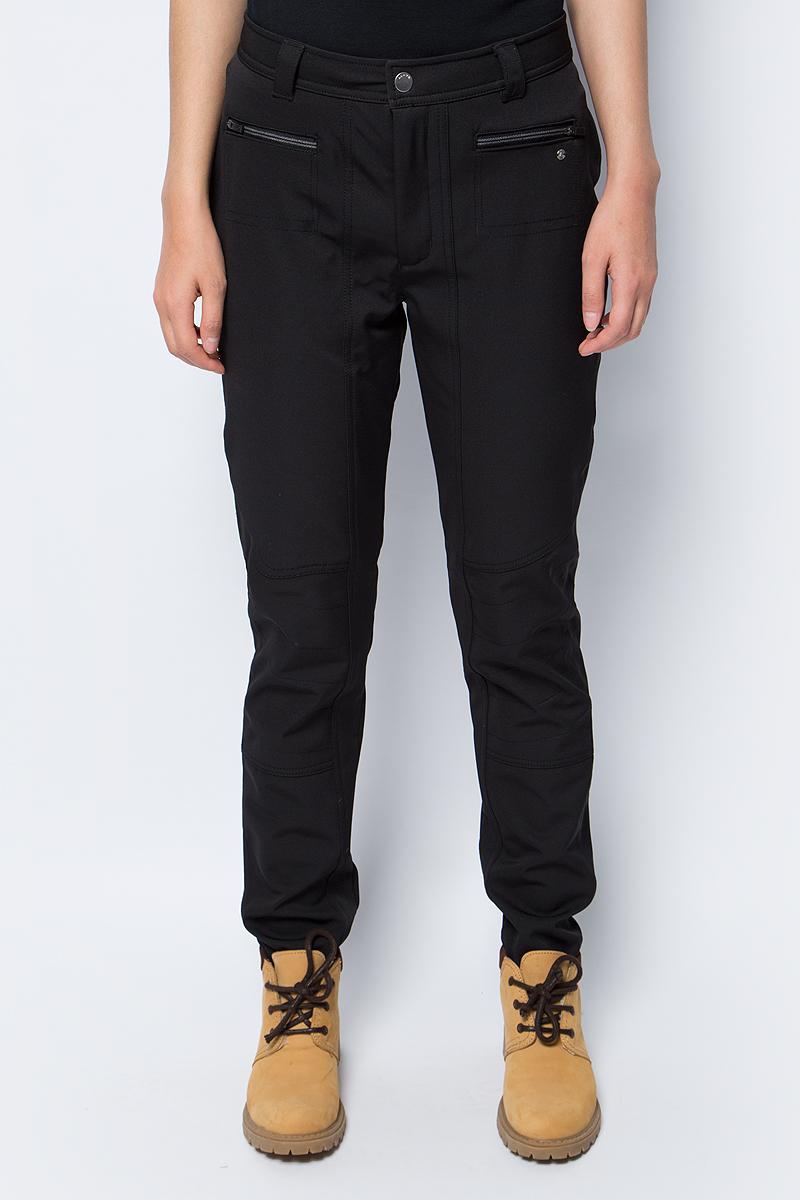 Брюки утепленные женские Luhta, цвет: черный. 838706343LV_990. Размер 36 (44) брюки утепленные luhta luhta lu692egxnj34