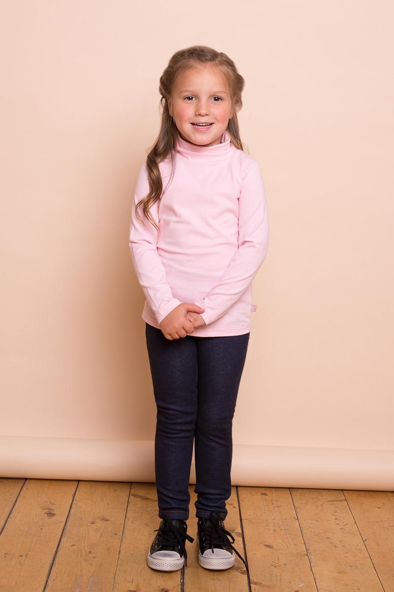 Водолазка для девочки Sweet Berry, цвет: розовый. 734158. Размер 110734158Классическая хлопковая водолазка для девочки от Sweet Berry выполнена из трикотажной ткани. Модель с длинными рукавами и воротником-гольф.