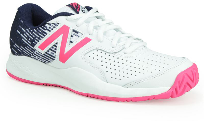 Кроссовки женские New Balance 696, цвет: белый, розовый. WC696AL3/B. Размер 7 (37,5)WC696AL3/B
