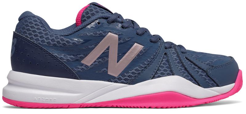 Кроссовки женские New Balance 696, цвет: синий, розовый. WC786VI2/B. Размер 7 (37,5)WC786VI2/B