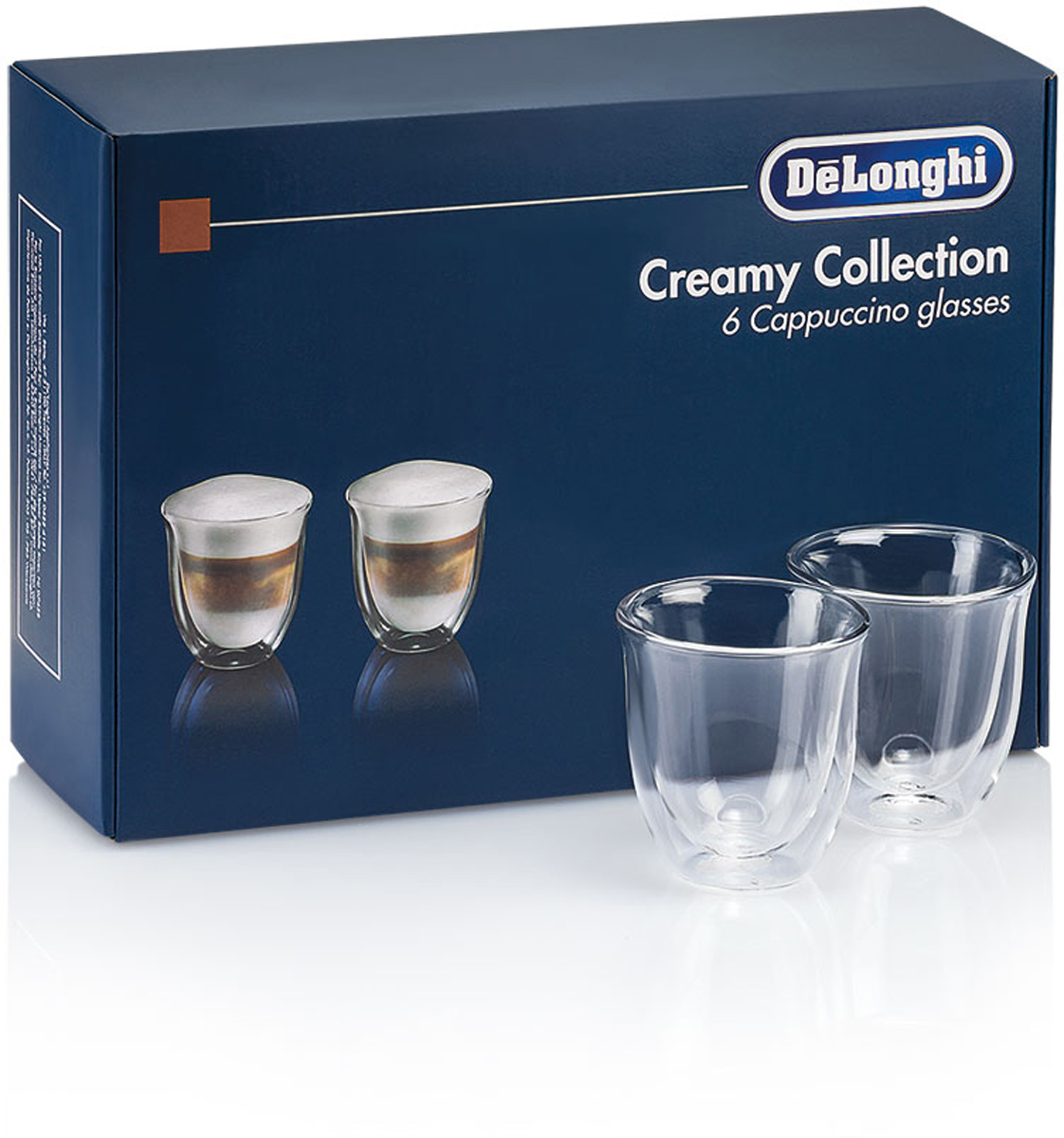 DeLonghi Cappuccino Glasses Set чашки, 6 шт5513296661