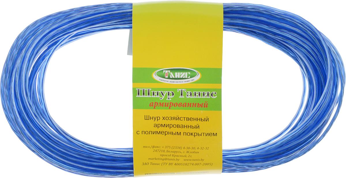 Шнур хозяйственный Tech-Krep, с полимерным покрытием, армированный, цвет: синий, 2 мм, 20 м136620Хозяйственный шнур Tech-Krep представляет собой шнур из синтетических нитей со стальной проволокой, покрытый ПВХ. Покрытие шнура устойчиво к воздействию агрессивных сред и солнечному излучению. Покрытие выдерживает температуру от -40°C до +50°С. Шнур предназначен для использования при статических нагрузках. Диаметр шнура: 2 мм.Длина: 20 м.