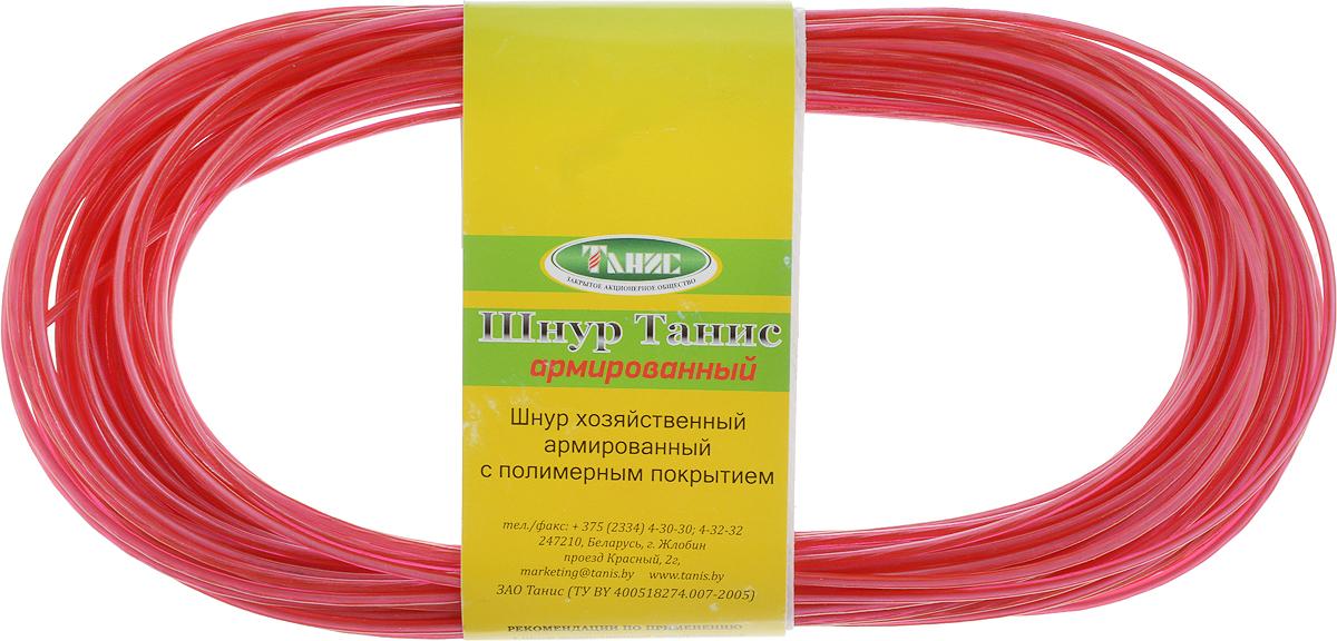 Шнур хозяйственный Tech-KREP, с полимерным покрытием, армированный, цвет: красный, 2 мм, 20 м136621Хозяйственный шнур Tech-KREP представляет собой шнур из синтетических нитей со стальной проволокой, покрытый ПВХ. Покрытие шнура устойчиво к воздействию агрессивных сред и солнечному излучению. Покрытие выдерживает температуру от -40°C до +50°С. Шнур предназначен для использования при статических нагрузках. Диаметр шнура: 2 мм.Длина: 20 м.