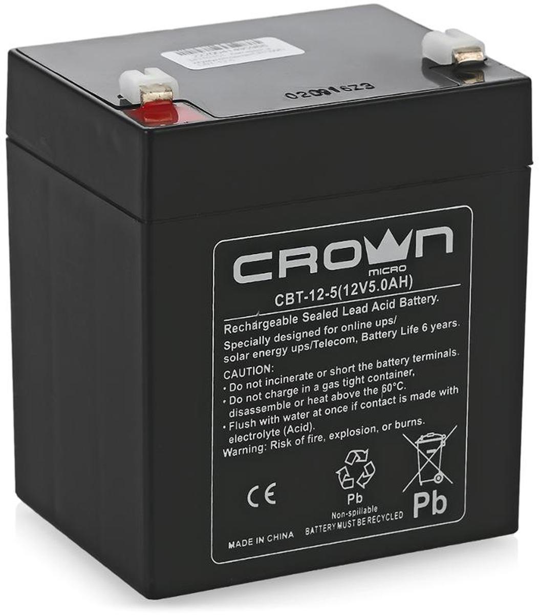 Crown Micro СВТ-12-5 аккумулятор для ИБП crown micro cmu sp1200iec usb 1200va 720w ибп