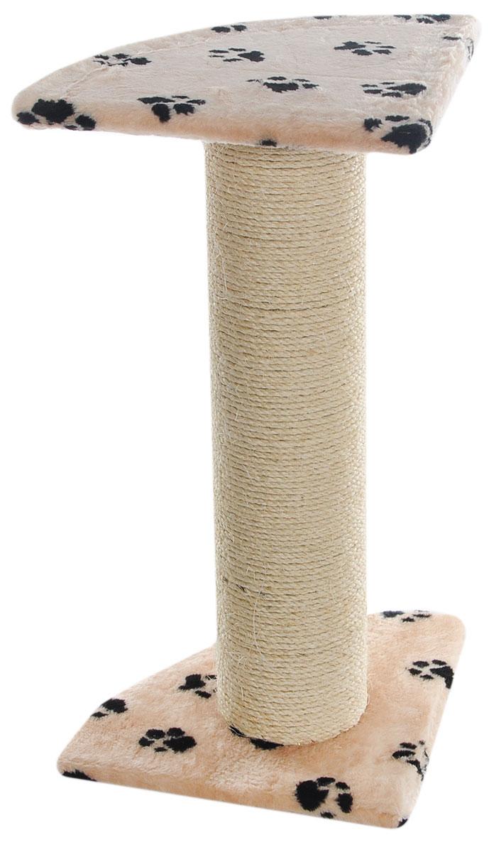 Когтеточка Пушок  Зонтик мощный , цвет: бежевый, черный, 45 х 45 х 80 см