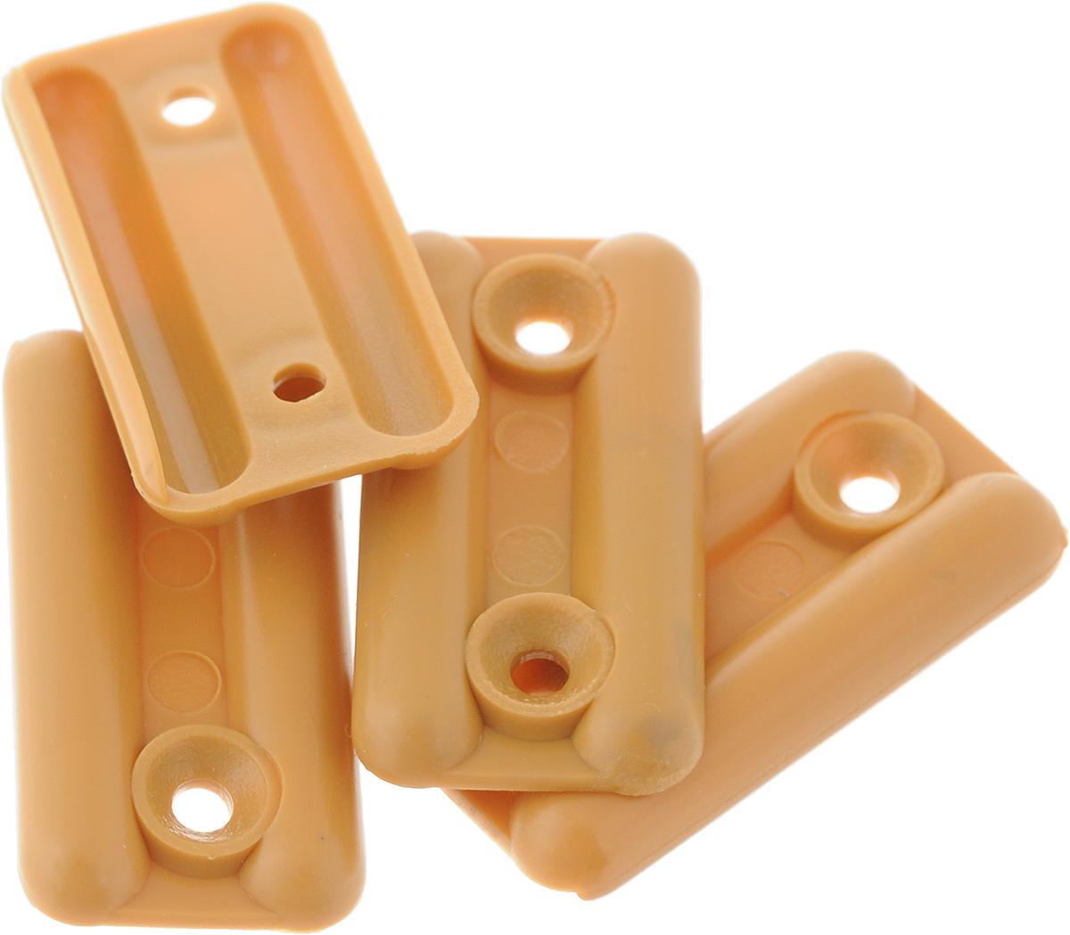 Подпятник для мебели Tech-KREP, цвет: светло-коричневый, 4 шт127508Подпятник Tech-KREP изготовлен из прочного пластика. Подпятник применяется для ножек габаритных предметов мебели, конструкции которых имеют большой вес. Благодаря подпятнику удается подкорректировать уровень установки и монтажа мебели. Изделие фиксируется на нижних торцах боковых стенок шкафов, комодов, больших тумб с габаритным весом. Размер: 3,5 х 1,8 см.