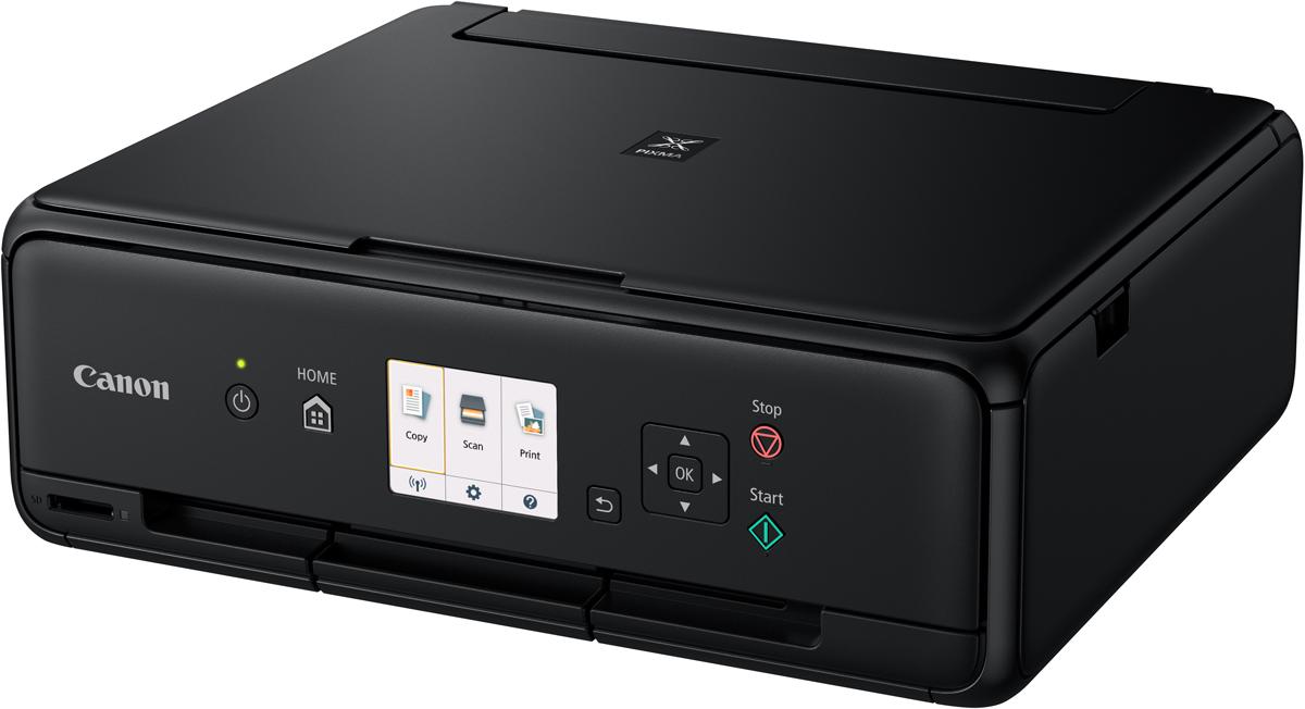 Canon Pixma TS5040, Black МФУ1367C007Представляем принтер Canon PIXMA TS5040. Новейшая модель среди доступных устройств для цветной печати, копирования и сканирования в домашних условиях.Печать дома без лишних усилий. Легко регулируемая передняя панель и ЖК-экран с диагональю 7,5 см обеспечивают быстрый доступ к функциям сканирования, копирования и печати. Инновационное заднее устройство подачи бумаги позволяет печатать фотографии без полей дома всего за 40 секунд.Это компактное устройство приблизительно на 40% меньше в сравнении с предыдущими моделями. Продуманные контрастные текстуры, закругленные углы и сглаженные контуры корпуса делают это небольшое устройство визуально еще более компактным. Элегантное дополнение рабочего стола или домашнего офиса.Принтер Canon PIXMA серии TS5040 оснащен встроенным модулем Wi-Fi, который позволяет выполнять печать с мобильного устройства или компьютера благодаря поддержке устройств Android, iOS, Windows 10 Mobile и сервиса Google Cloud Print. Вы также можете делиться любимыми снимками прямо с камеры с поддержкой Wi-Fi или используя встроенный разъем для SD-карты.Печатающая головка с технологией FINE и 5 отдельных чернильниц струйного принтера Canon TS5040 обеспечивают непревзойденную детализацию каждой фотографии.Печатайте снимки из любимых социальных сетей благодаря функции PIXMA Cloud Link и поддержке бумаги квадратного стандарта. Загрузите приложение Canon Print и печатайте фотографии прямо из Facebook и Instagram, используя фотобумагу Canon формата 13x13 см (5x5).Обновленный интерфейс принтера PIXMA TS5040 обеспечивает простоту и удобство использования устройства. Благодаря улучшенным функциям, от экрана принтера до приложения Canon PRINT, теперь вы можете наслаждаться стабильным качеством печати и сканирования любых фотографий и документов.Еще более компактный принтер Canon PIXMA TS5040 оснащен рядом совершенно новых функций, включая напоминание о необходимости убрать документ, а также имеет переднюю панель с ручной регулир