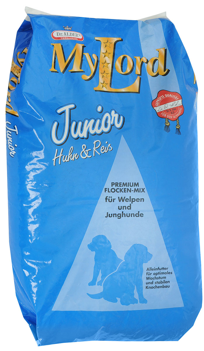 Корм сухой Dr. Alders My Lord. Junior для собак, с птицей и рисом, 15 кг бош сухой корм для собак bosch my friend mix 20 кг