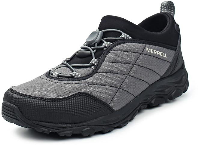 Ботинки мужские Merrell Ice Cap 4 Strech Moc, цвет: серый, черный. 12429. Размер 10 (43.5)12429Мужские ботинки Merrell отлично подойдут для туризма. Модель, выполненная из высококачественных материалов, дополнена контрастной прострочкой и сбоку логотипом бренда. Модель быстро и легко шнуруется при помощи эластичного шнурка и пластикового фиксатора. Стелька из текстиля и подкладка из флиса обеспечивают надежную термоизоляцию. Подошва с рифлением обеспечивает отличное сцепление на любой поверхности. В таких ботинках вашим ногам будет уютно и комфортно.