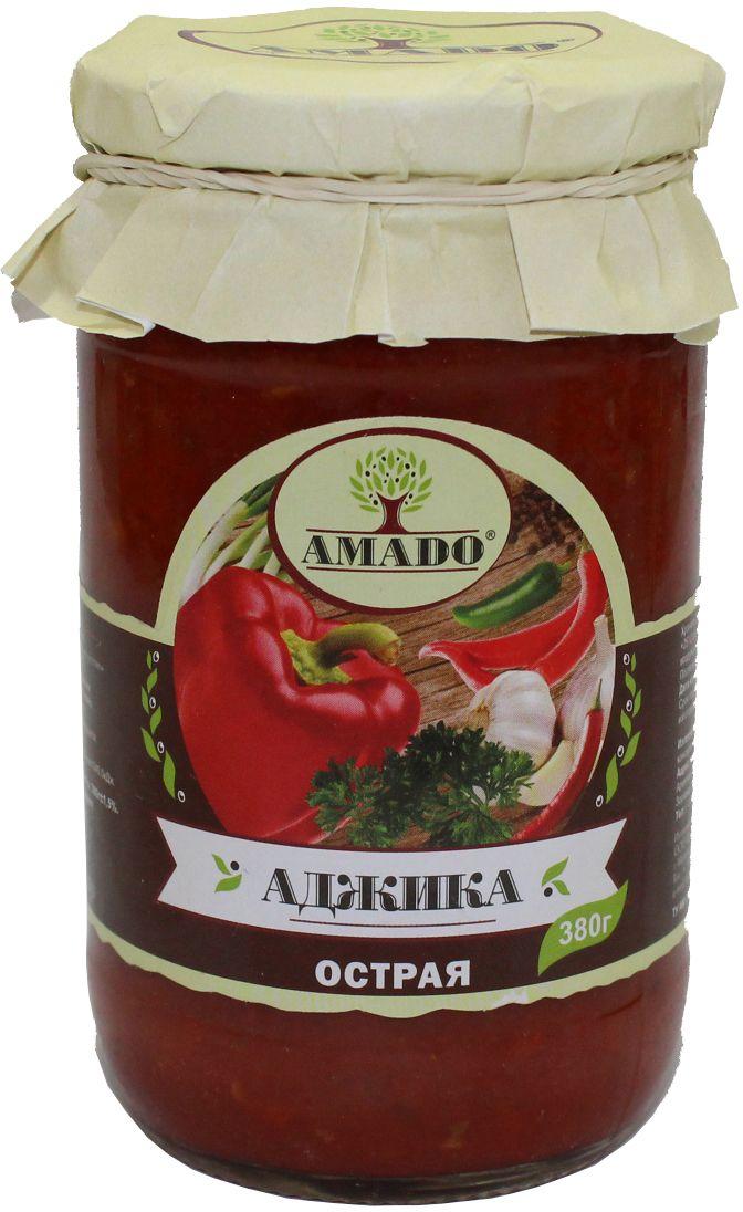 Amado аджика острая, 380 г38Экологически чистый продукт. Чистейшая горная вода позволяет почувствовать истинный вкус наших овощей. Отсутствуют усилители вкуса, консерванты и ГМО.
