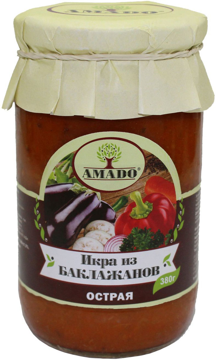 Amado икра из баклажанов острая, 380 г конфеты jelly belly 100g