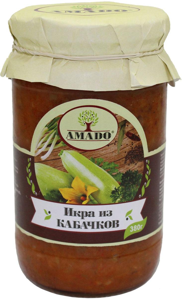 Amado икра из кабачков, 380 г amado перец аппетитный жгучий 500 г