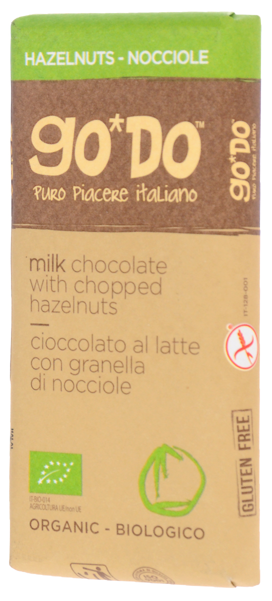 Icam Godo шоколад с лесным орехом органический молочный 34% какао, 35 гК1073Органический шоколад из Италии высшего качества. Великолепный вкус шоколада является неотъемлемой частью наслаждения жизнью.