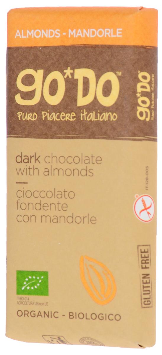 Icam Godo шоколад с миндалем органический горький 60% какао, 35 гК1074Органический шоколад из Италии высшего качества. Великолепный вкус шоколада является неотъемлемой частью наслаждения жизнью.