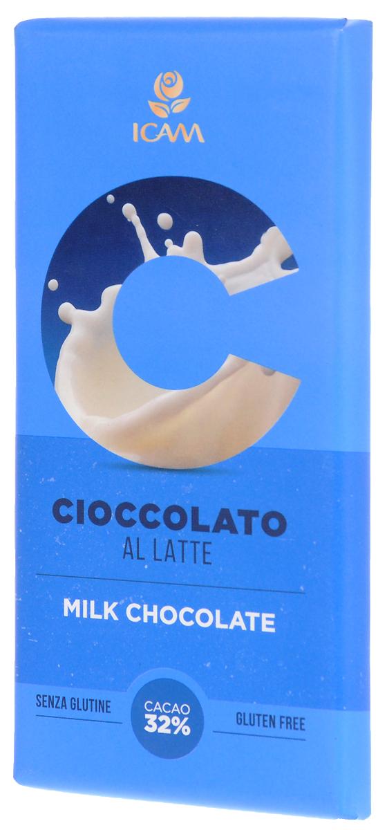 Icam Vanini шоколад классик молочный 32% какао, 100 гК7200Шоколад Icam Классик - это плод вечной страсти, передаваемый с 1946 года из поколения в поколение семьей Agostoni, - виртуозами по производству подлинного итальянского шоколада.Высококачественные ингредиенты. Продукция не содержит глютен. Привлекательный дизайн упаковки.