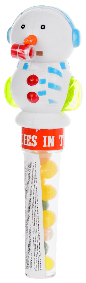 Конфитрейд Снеговик мармелад жевательный в новогодней тубе с игрушкой, 10 г ударница мармелад со вкусом персика 325 г