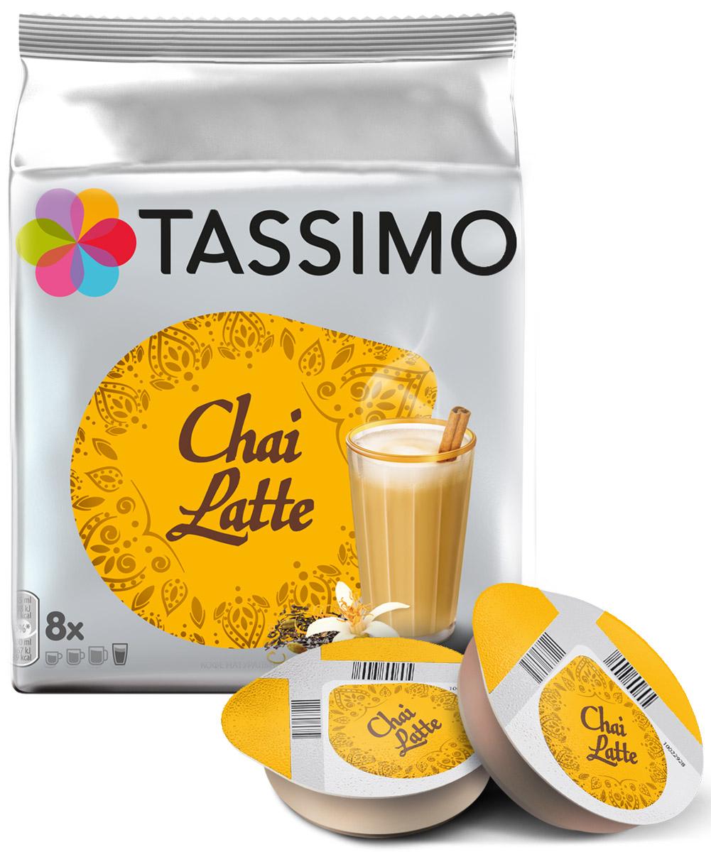 Tassimo Twinings Chai Latte чай с пряностями в капсулах, 8 шт4019527В состав чая Tassimo Twinings Chai Latte входят ароматические специи, такие как кардамон, гвоздика и имбирь. Он считается национальным напитком в Индии и на Шри-Ланке и становится всё более популярным в мире благодаря мягкому вкусу экзотической смеси пряных ароматов в сочетании со сливочной пенкой.