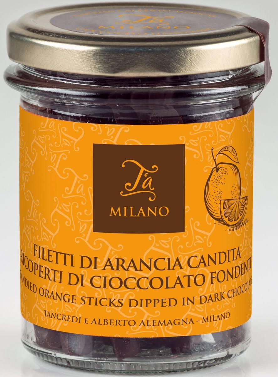 Ta Milano цукаты из апельсина в горьком шоколаде 66% какао, 120 гК81040Восхитительные цукаты из апельсина в форме палочек, покрытые темным шоколадом