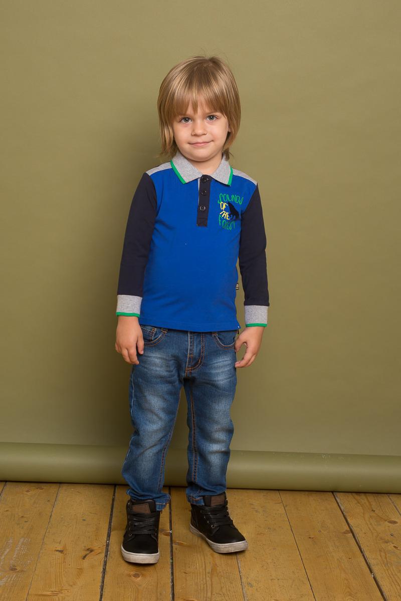 Джемпер для мальчика Sweet Berry Baby, цвет: темно-синий. 731003. Размер 98731003Хлопковый джемпер с воротником поло для мальчика декорированный оригинальным принтом и контрастной отделкой манжетов и воротничка.