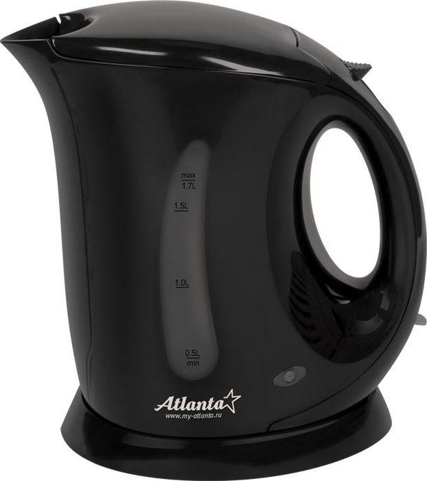 Atlanta ATH-748, Black чайник электрический77.858@25621Электрический чайник Atlanta ATH-748 прост в управлении и долговечен в использовании. Изготовлен из высококачественных материалов. Мощность 2000 Вт позволит вскипятить 1,7 литра воды в считанные минуты. Для обеспечения безопасности при повседневном использовании предусмотрены функция автовыключения, а также защита от включения при отсутствии воды.
