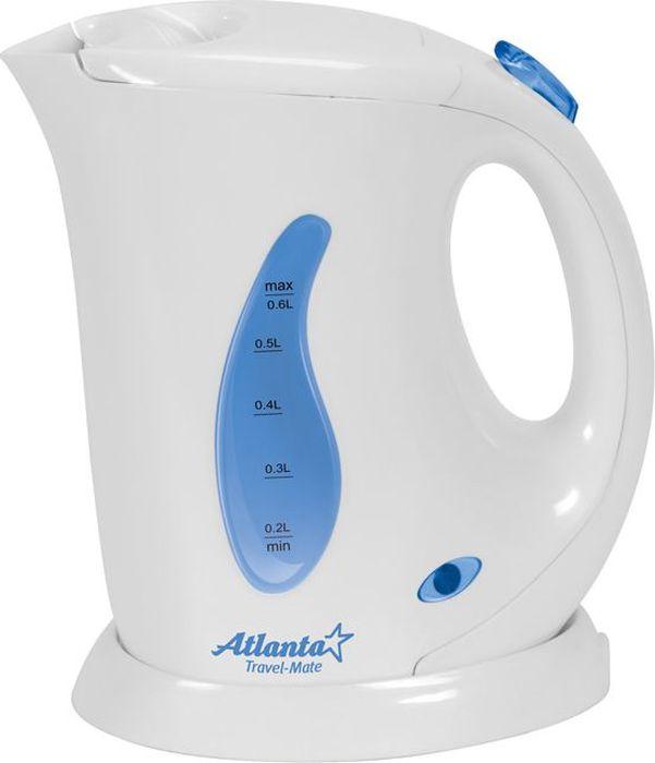 Atlanta ATH-721, White чайник электрический77.858@20849Электрический чайник Atlanta ATH-721 прост в управлении и долговечен в использовании. Изготовлен из высококачественных материалов. Мощность 760 Вт позволит вскипятить 0,6 литра воды в считанные минуты. Для обеспечения безопасности при повседневном использовании предусмотрены функция автовыключения, а также защита от включения при отсутствии воды.
