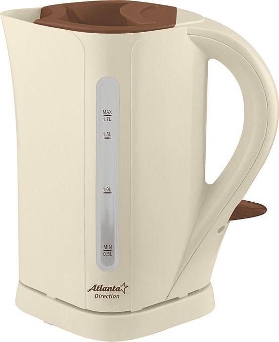 Atlanta ATH-2303, Beige чайник электрический atlanta ath 2431 silver black чайник электрический