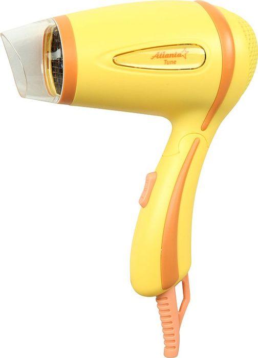 Atlanta ATH-870, Yellow фен77.858@26585Фен Atlanta ATH-870 обеспечивает мощный воздушный поток и быструю сушку волос. Сбалансированная система контроля температуры и силы воздушного потока устанавливает оптимальный режим сушки и исключает потерю протеина волос вследствие перегрева. Фен имеет два уровня интенсивности сушки. Прибор оснащен специальным механизмом отключения в случае перегрева и дополнительным плавким предохранителем на случай ошибки системы.Нагревательный элемент выполнен в виде конуса для равномерного нагрева по всему потоку воздуха с использованием формы спирали, позволяющей улучшить показатель равномерности теплоотдачи данного нагревательного элемента.Прочная, удобная ручка легко складывается и имеет специальное противоскользящее покрытие. Фен занимает мало места при хранении, а также очень удобен дороге.