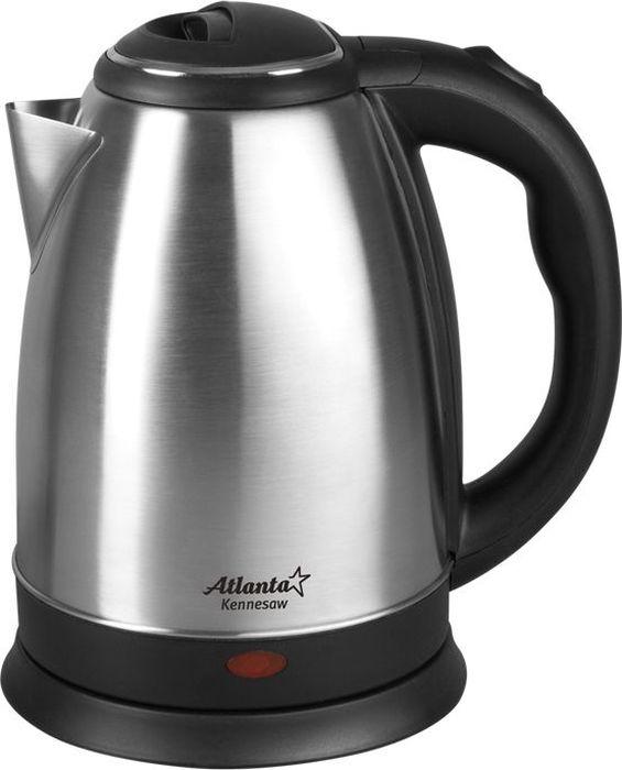 Atlanta ATH-2431, Silver Black чайник электрический atlanta ath 2426 silver black чайник электрический
