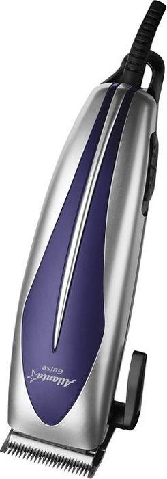 Atlanta ATH-6883, Silver машинка для стрижки77.858@25695Машинка для стрижки Atlanta ATH-6883 поможет вам в домашних условиях легко ухаживать за волосами. Она оснащена четырьмя насадками, при помощи которых можно регулировать длину стрижки волос. Hежущие лезвия выполнены из высококачественной нержавеющей стали. Удобная нескользящая ручка обеспечивает удобство эксплуатации. Также конструкцией предусмотрена петля для подвешивания прибора на крючок.