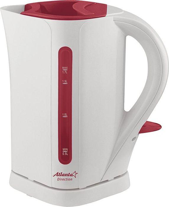 Atlanta ATH-2303, Gray чайник электрический77.858@23251Электрический чайник Atlanta ATH-2303 прост в управлении и долговечен в использовании. Изготовлен из высококачественных материалов. Мощность 2000 Вт позволит вскипятить 1,7 литра воды в считанные минуты. Для обеспечения безопасности при повседневном использовании предусмотрены функция автовыключения, а также защита от включения при отсутствии воды.